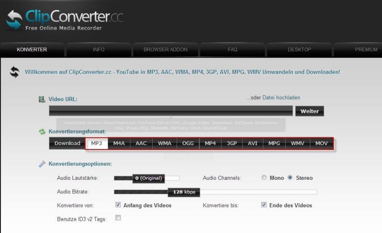 video converter online kostenlos videos online konvertieren. Black Bedroom Furniture Sets. Home Design Ideas
