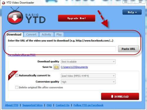 basic ytd downloader and converter