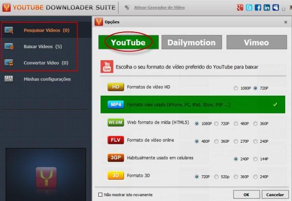 Converter video do youtube para 3gp