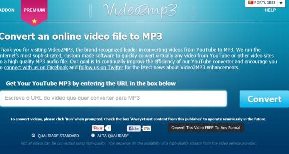 Conversor Grátis de YouTube para MP3 – converte facilmente