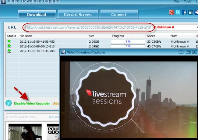 Download Livestream