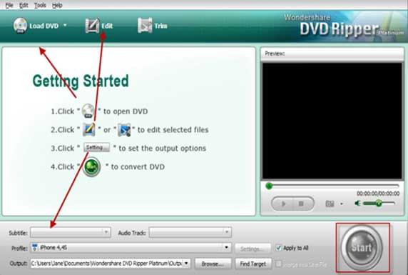 steps to rip DVD