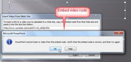 Incorpora video il codice