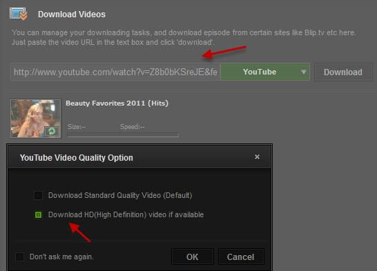 Download HD video YouTube