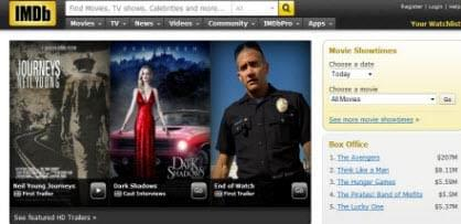 IMDB movie site