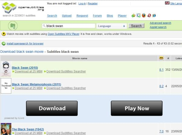 how to download subtitles from movie stream