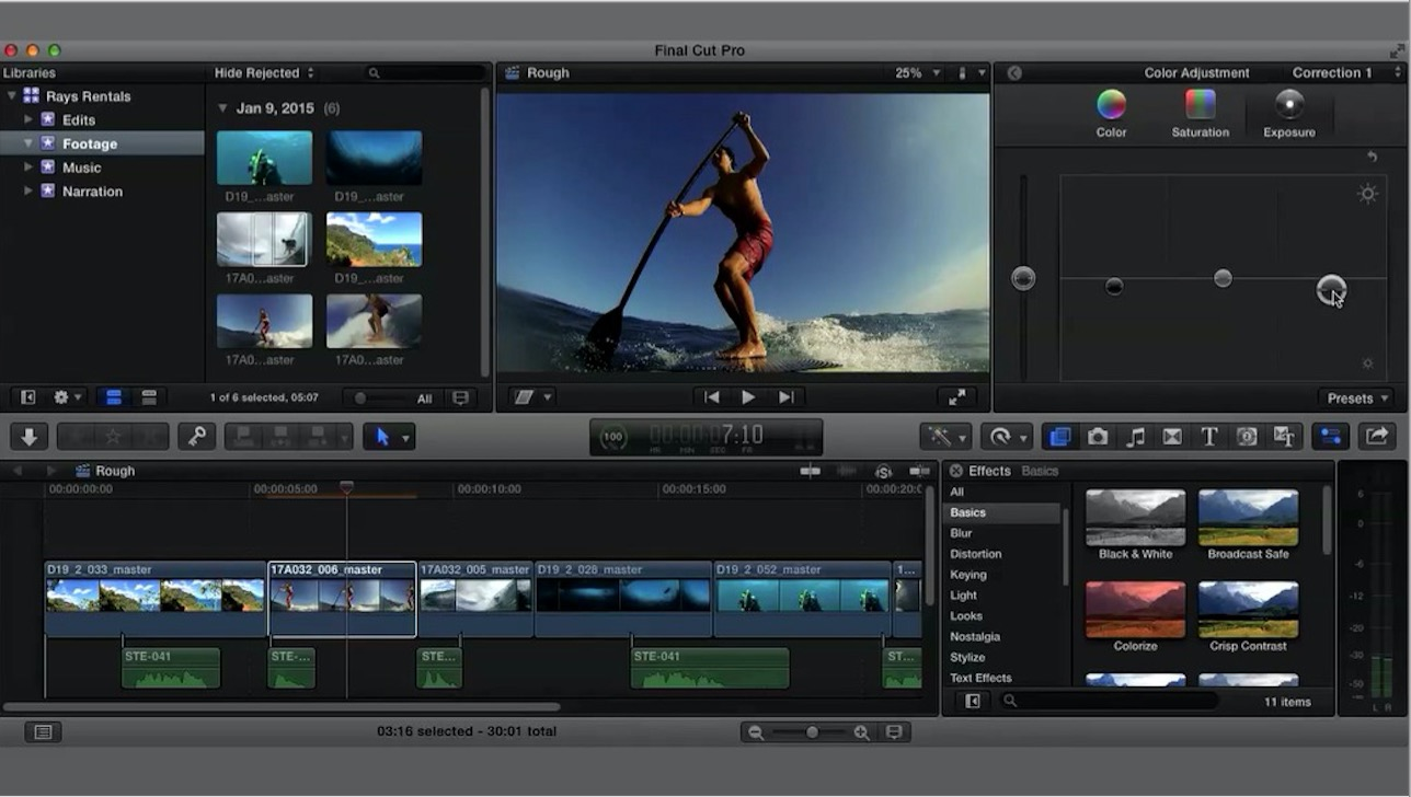 final cut pro edit video frame